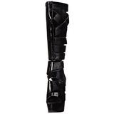 Nero Vernice 15 cm DELIGHT-600-49 stivali da gladiatore donna con tacco altissime