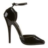 Nero Vernice 15 cm DOMINA-402 scarpe décolleté con tacchi bassi