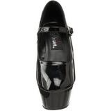 Nero Vernice 15 cm KISS-280 Scarpe da donna con tacco altissime