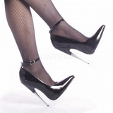 Nero Vernice 15 cm SCREAM-12 Fetish Scarpe Décolleté