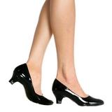 Nero Vernice 5 cm FAB-420W scarpe décolleté con tacchi bassi