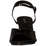 Nero Vernice 8 cm BELLE-309 scarpe tacco alto numeri grandi per uomo