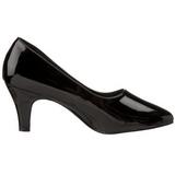 Nero Vernice 8 cm DIVINE-420W scarpe décolleté con tacchi bassi