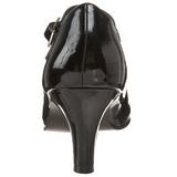 Nero Vernice 8 cm DIVINE-440 scarpe décolleté con tacchi bassi