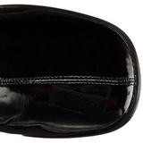 Nero Vernice 8 cm GOGO-3000 stivali alti numeri grandi da uomo