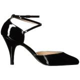 Nero Verniciata 10 cm DREAM-408 grandi taglie scarpe décolleté