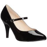 Nero Verniciata 10 cm DREAM-428 grandi taglie scarpe décolleté