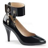 Nero Verniciata 10 cm DREAM-432 grandi taglie scarpe décolleté