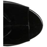 Nero Verniciata 10 cm QUEEN-100 grandi taglie stivaletti donna