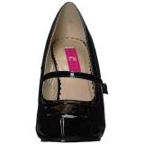 Nero Verniciata 11,5 cm PINUP-01 grandi taglie scarpe décolleté