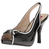 Nero Verniciata 11,5 cm PINUP-10 grandi taglie sandali donna