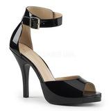 Nero Verniciata 12,5 cm EVE-02 grandi taglie sandali donna