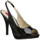 Nero Verniciata 12,5 cm EVE-04 grandi taglie sandali donna