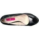 Nero Verniciata 13,5 cm CHLOE-01 grandi taglie scarpe décolleté