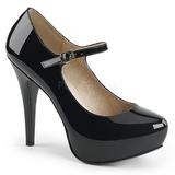 Nero Verniciata 13,5 cm CHLOE-02 grandi taglie scarpe décolleté