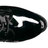 Nero Verniciata 19 cm TABOO-2023 stivali donna con lacci e plateau alto