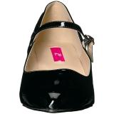 Nero Verniciata 5 cm FAB-425 grandi taglie scarpe décolleté