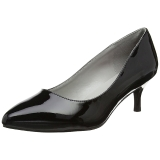 Nero Verniciata 6,5 cm KITTEN-01 grandi taglie scarpe décolleté