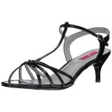 Nero Verniciata 6 cm KITTEN-06 grandi taglie sandali donna