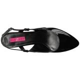 Nero Verniciata 7,5 cm DIVINE-418 grandi taglie scarpe décolleté
