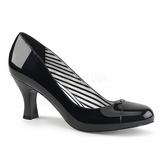 Nero Verniciata 7,5 cm JENNA-01 grandi taglie scarpe décolleté