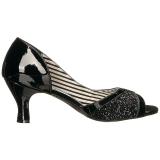 Nero Verniciata 7,5 cm JENNA-03 grandi taglie scarpe décolleté