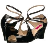 Nero Verniciata 7,5 cm KIMBERLY-04 grandi taglie sandali donna