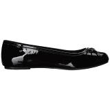 Nero Verniciata ANNA-01 grandi taglie scarpe ballerine
