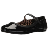 Nero Verniciata ANNA-02 grandi taglie scarpe ballerine