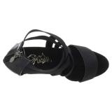 Nero banda elasticizzata 15 cm DELIGHT-669 scarpe da donna pleaser