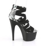 Nero banda elasticizzata 18 cm ADORE-748SP scarpe da donna pleaser