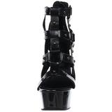 Nero gladiatore 15 cm DELIGHT-682 Sandali Tacco Altissimo