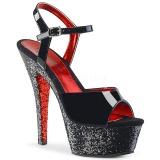 Nero scintillare 15 cm Pleaser KISS-209TTG scarpe con tacchi da pole dance