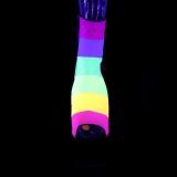 Nero scintillare 18 cm ADORE-1018RBG stivaletti da pole dance