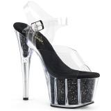 Nero scintillare 18 cm Pleaser ADORE-708G scarpe da cubista e spogliarellista