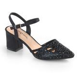 Nero scintillare 7 cm Fabulicious FAYE-06 sandali tacchi a spillo