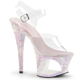 Opal 18 cm MOON-708LG glitter platform high heels shoes