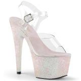 Opale scintillare 18 cm Pleaser ADORE-708HMG scarpe con tacchi da pole dance