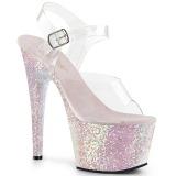 Opale scintillare 18 cm Pleaser ADORE-708LG scarpe con tacchi da pole dance
