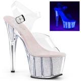 Opale scintillare 18 cm Pleaser ADORE-708UVG scarpe con tacchi da pole dance