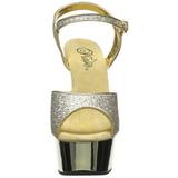 Oro 15 cm Pleaser DELIGHT-609G Cromo Plateau Tacchi Alti