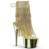 Oro 18 cm ADORE-1017RSF stivaletti con frange donna tacco alto