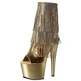 Oro 18 cm ADORE-1024RSF stivaletti con frange donna tacco alto