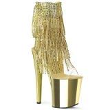 Oro 20 cm XTREME-1017RSF stivaletti con frange donna tacco alto