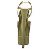 Oro Brillare 20 cm Pleaser FLAMINGO-809-2G Tacchi Alti Plateau