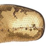 Oro Lustrini 8 cm SPECTACUL-300SQ Stivali Donna da Uomo