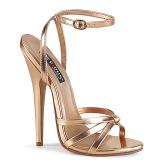 Oro Rosa 15 cm Devious DOMINA-108 sandali tacchi a spillo