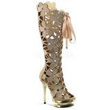 Oro Scamosciata 15 cm FANTASIA-2020 stivali donna con pietre strass