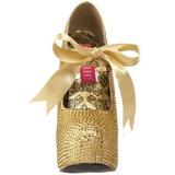 Oro Strass Cristallo 14,5 cm Burlesque TEEZE-04R Plateau Scarpe Décolleté