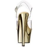 Oro Trasparente 18 cm SKY-308 Plateau Tacchi Alti a Spillo